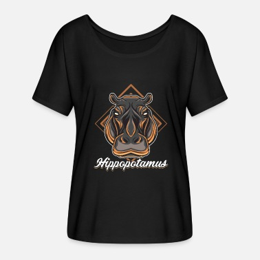 Hippopotamus Hippopotamus - Women's Batwing-Sleeve T-Shirt by Bella + Canvas