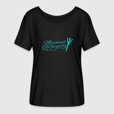 Mermaid security Lifeguard Swimming Teacher Merman - Women's Batwing-Sleeve T-Shirt by Bella + Canvas