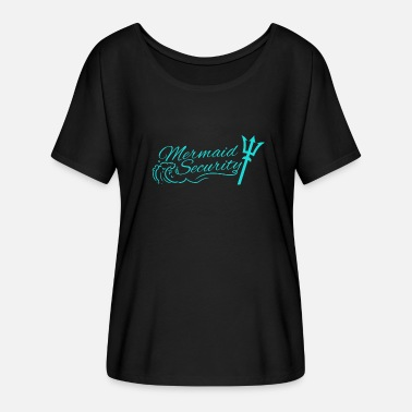 Merman Mermaid security Lifeguard Swimming Teacher Merman - Women's Batwing-Sleeve T-Shirt by Bella + Canvas