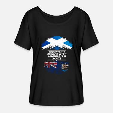 Scottish Roots Scottish Grown With Anguillian Roots - Women's Batwing-Sleeve T-Shirt by Bella + Canvas