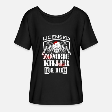Killing Eve Zombie Killing Halloween Killer For Hire Axe Knife Dark - Women's Batwing-Sleeve T-Shirt by Bella + Canvas
