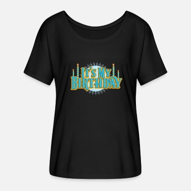 Birthday Day Birthday My Birthday Retro Candles Party Gift - Women's Batwing T-Shirt