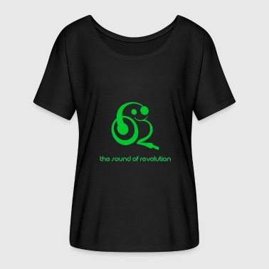 Green Revolution The sound of revolution - Women's Batwing-Sleeve T-Shirt by Bella + Canvas