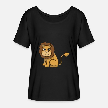Character Lion lion gift cat cat animal africa - Women's Batwing-Sleeve T-Shirt by Bella + Canvas