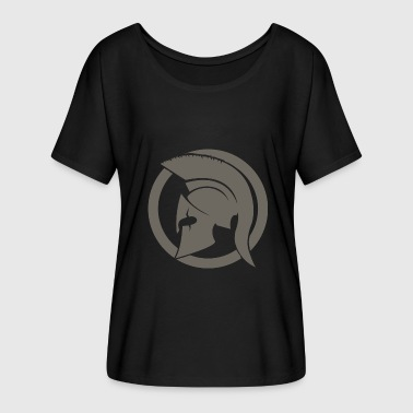 Gray Spartan - Women's Batwing-Sleeve T-Shirt by Bella + Canvas