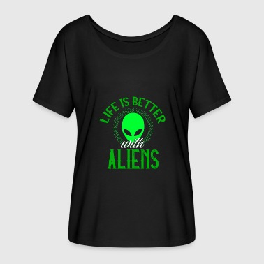 Alien Aliens Alien Alien Gift - Women's Batwing-Sleeve T-Shirt by Bella + Canvas