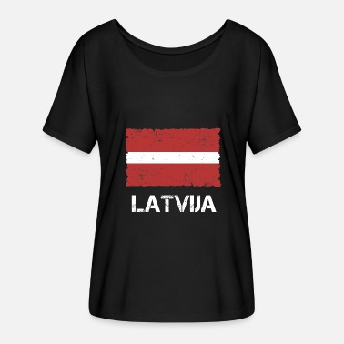 Used Look Lettland Latvija Used look - T-shirt med fladdermusärmar dam