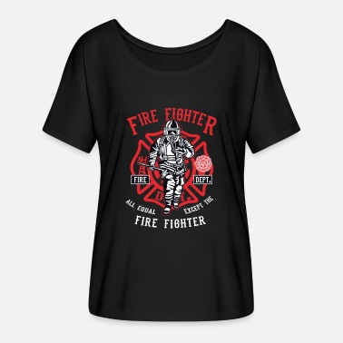 Fire Fighter Fire Fighter - Frauen Fledermaus T-Shirt