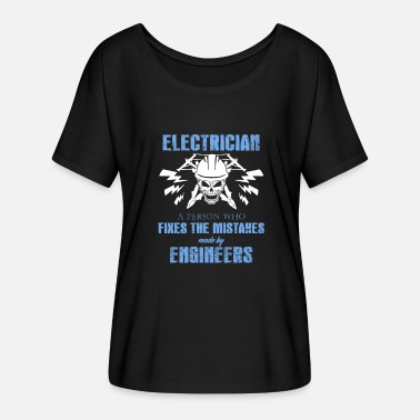 Electricity Electrician Electricity Electricity Electricity Gift - Women's Batwing-Sleeve T-Shirt by Bella + Canvas