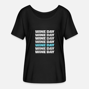 Wine Bar Wine Drink Alcohol Festive Grape Gift Bar - Women's Batwing-Sleeve T-Shirt by Bella + Canvas