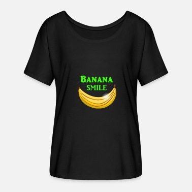 Free Banana Banana Smile I Cool banana with a lot of fun - Women's Batwing-Sleeve T-Shirt by Bella + Canvas
