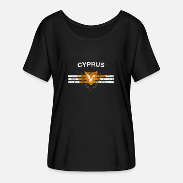 Cypriot Cypriot Flag Shirt - Cypriot Emblem & Cyprus Flag - Women's Batwing-Sleeve T-Shirt by Bella + Canvas