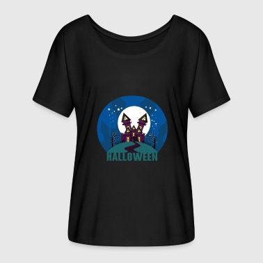 Halloween haunted house haunted house - Women's Batwing-Sleeve T-Shirt by Bella + Canvas