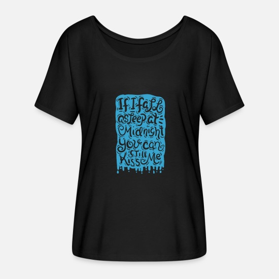 Midnight T-Shirts - New Year's Eve Shirt - New Years Eve T-Shirt - Gift - Women's Batwing T-Shirt black