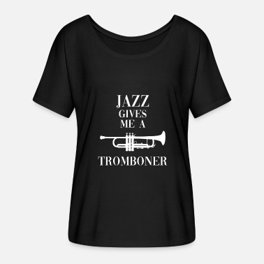 Trombone Jazz Tromboner - Women's Batwing-Sleeve T-Shirt by Bella + Canvas