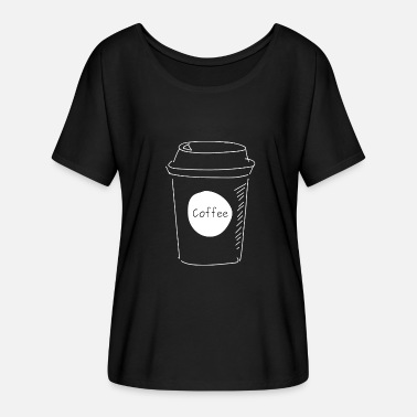 Coffee To Go Becher Coffee to Go - Frauen T-Shirt mit Fledermausärmeln von Bella + Canvas