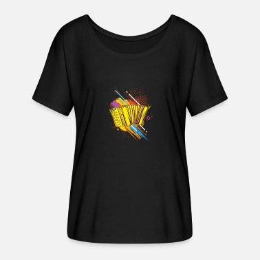 Concertina Accordion Concertina Melodeon Piano Accordion Gift - Women's Batwing-Sleeve T-Shirt by Bella + Canvas