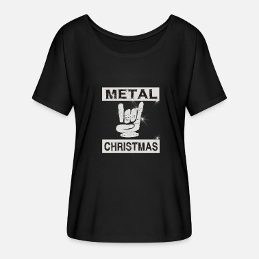 Heavy Metal Metal Chirstmas Heavy Metal Rock Musicien hardrock - T-shirt manches chauve-souris Femme Bella + Canvas