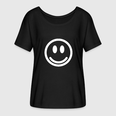 Emoticon Happy Smiley smile emoticon gift Happy - Camiseta mujer con mangas murciélago de Bella + Canvas