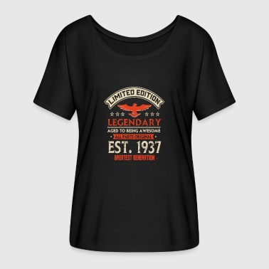 Limited Edition 1937 Limited Edition Legendary Est 1937 - Women's Batwing-Sleeve T-Shirt by Bella + Canvas