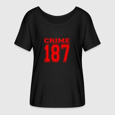 Crime 187 crime street criminal red - Women's Batwing-Sleeve T-Shirt by Bella + Canvas