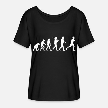 Joggen Training Läufer Jogger Joggen Training Fitness Evolution - Frauen T-Shirt mit Fledermausärmeln von Bella + Canvas