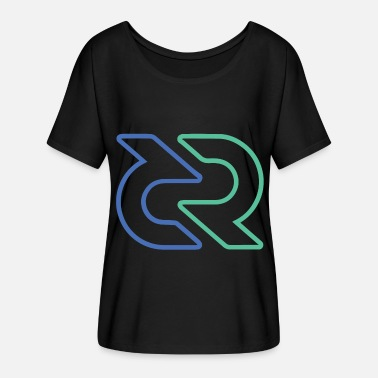 Nano Coin Decred DCR - Women's Batwing-Sleeve T-Shirt by Bella + Canvas