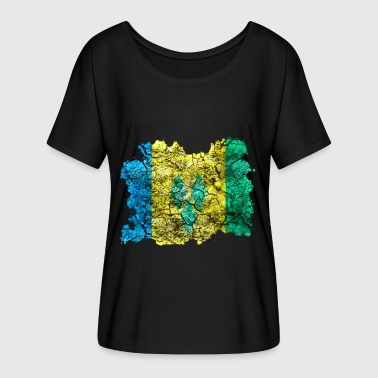 Saint Vincent And The Grenadines St. Vincent and the Grenadines vintage flag - Women's Batwing-Sleeve T-Shirt by Bella + Canvas