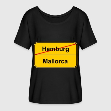 Town Hamburg Mallorca town sign - Women's Batwing-Sleeve T-Shirt by Bella + Canvas