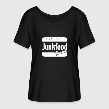 Junk Food Junk food junkie - Women's Batwing-Sleeve T-Shirt by Bella + Canvas