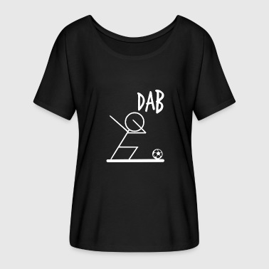 Groupe DAB Football Dabbing T-Shirt Danse Move Cheers cool - T-shirt manches chauve-souris Femme Bella + Canvas