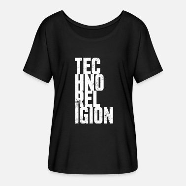 Techno Religion Techno religion - Women's Batwing-Sleeve T-Shirt by Bella + Canvas