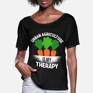Cactus Gardening Urban Agriculture Is My Therapy for - Frauen Fledermaus T-Shirt