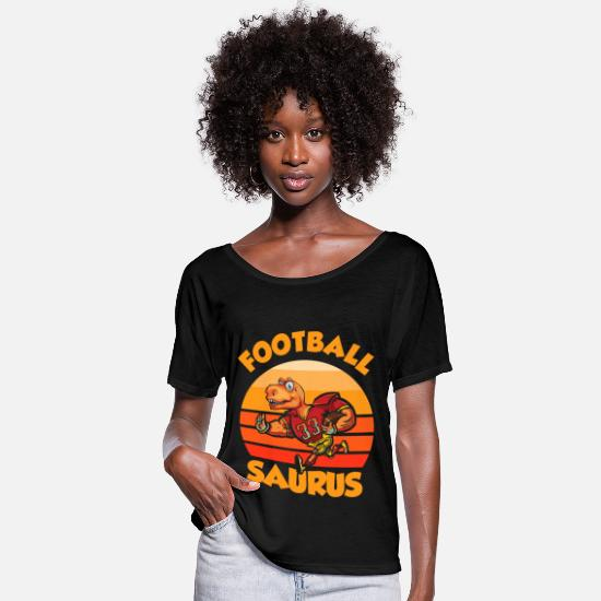 Rugby T-Shirts - Football Offensive Line - Frauen Fledermaus T-Shirt Schwarz