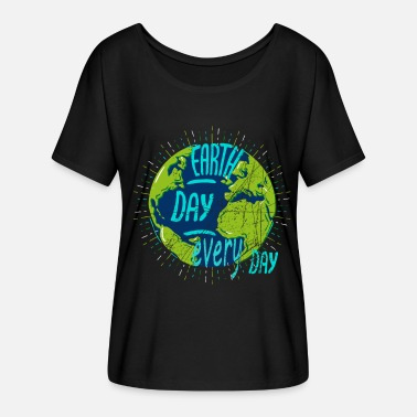 Earth Day Earth Day - Earth Day - Vrouwen T-shirt met vleermuismouwen