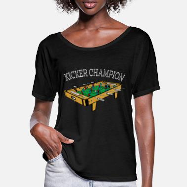 Kicker champion foosball table football gift - Women's Batwing T-Shirt