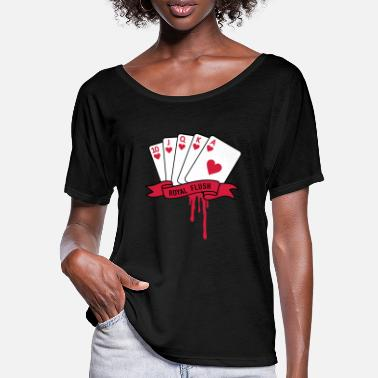 Royal Flush royal flush - T-shirt med fladdermusärmar dam