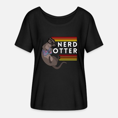 Nerd Otter Sayings Gaming Kami Gamer - Women's Batwing T-Shirt