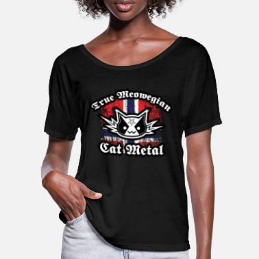 True Metal True Meowegian Cat Metal - Women's Batwing T-Shirt