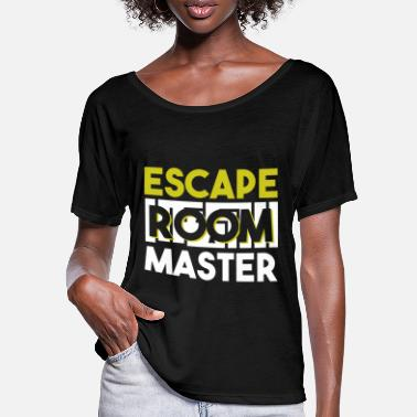Knække Locked Rooms Enthusiast Shirt Escape Room Master - T-shirt med flagermusærmer dame