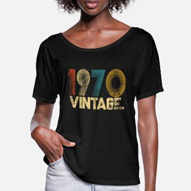 Vintage 1970 VINTAGE Gift/ 51st birthday gift - Women's Batwing T-Shirt