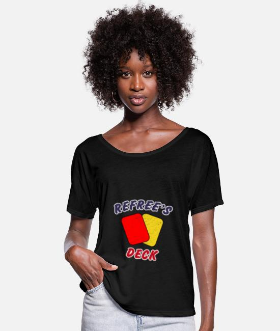 National Team T-Shirts - Soccer Refree's Deck - Women's Batwing T-Shirt black
