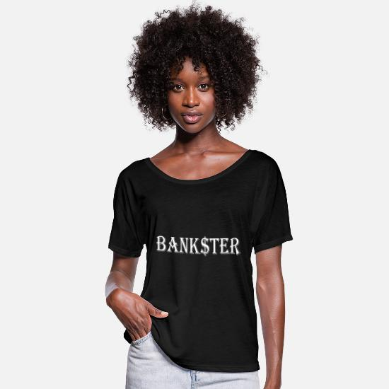 Bank T-Shirts - Bank $ ster knows - Women's Batwing T-Shirt black