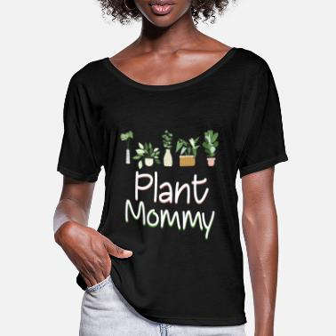 Happy New Year Plant Mommy Funny Happy Mother's Day - T-shirt med flagermusærmer dame