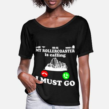 Roller Coaster Roller coaster amusement park - gets to saying - Women's Batwing T-Shirt