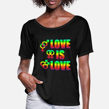 Diverse Love Is Love Gay Lesbians Love Freedom - T-skjorte med flaggermusermer for kvinner