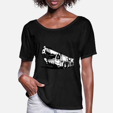 Autokran Autokran, crane (2 color) - Frauen Fledermaus T-Shirt