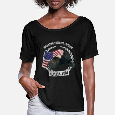 Operation OEF Afghanistan Veteran Operation Enduring Freedom - Women's Batwing T-Shirt