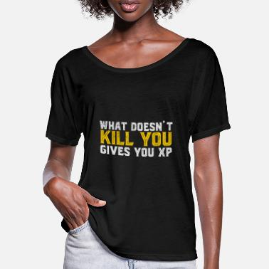 Browsergame Kill You Gives XP Je parie Game Nerd - T-shirt manches chauve-souris Femme