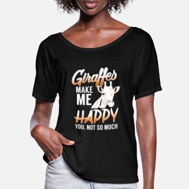 Ruminant Girafes ruminants animaux chanceux - T-shirt manches chauve-souris Femme